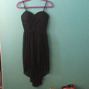 Black high low dress // worn once (Sequin Hearts)